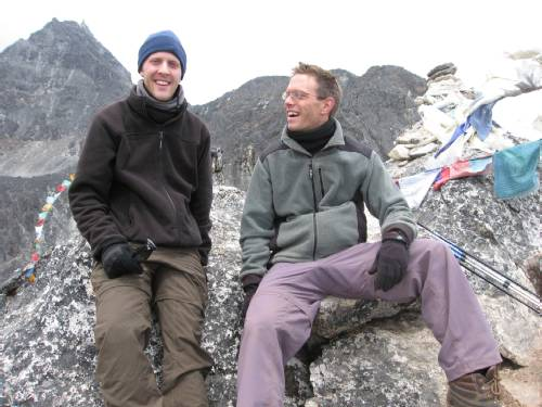 Paul and Dame at 5050m this afternoon